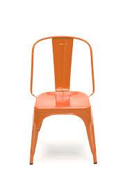chaise potiron chaise ac de tolix acier laqué potiron