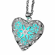 photo locket pendant necklace images Eloi magical fairy glow in the dark heart locket jpg