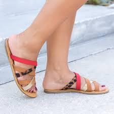 happiness strappy sandals leopard u2013 sunnymia