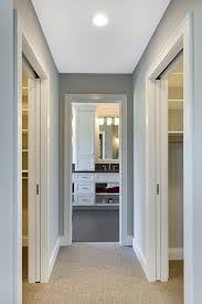 Small Bathroom Addition Master Bath by Separate His And Her Closets Are Located On Either Side Of A