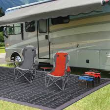 Rv Patio Rugs by Coleman Reversible Beige Black Rv Patio And Camp Mat