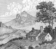 beautiful scenery sketches pencil pencil drawing of nature pencil