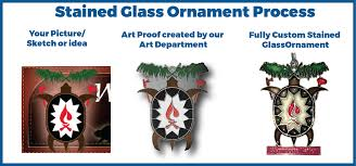 stained glass ornament design process steelberry ornaments