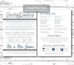 where to get wedding programs printed modern and sided wedding program unique wedding