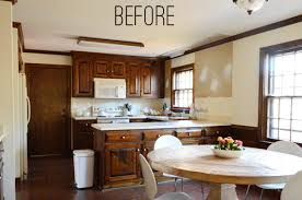 painting dark trim u0026 paneling in the kitchen young house love