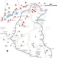 World Map Nepal by Dhaulagiri Trekking U0026 Treks Map Trekking Map Nepal Trekking Map