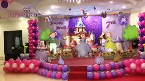 sofia theme birthday party
