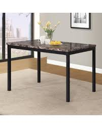 marble and metal dining table spring sale roundhill furniture noyes metal dining table with faux