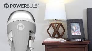Tiny Lamp by Powerbulb Led Light Bulb With Two Usb Charging Ports By Mega