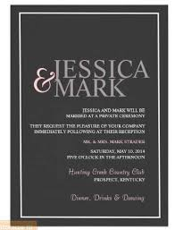 reception only invitations for ceremonies the reception only invite wedding
