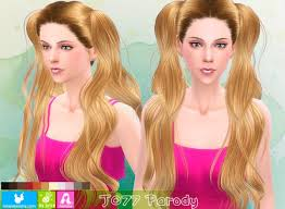 the sims 4 cc hair ponytail sims 4 hairs newsea j 077 parody double long ponytails hairstyle