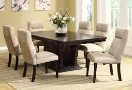 Dining Room White Dining Room Set With White Smoke Upholstered - Dining room sets with upholstered chairs