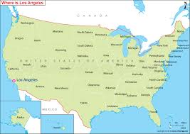 map usa la where is los angeles located