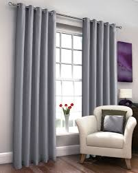 Lined Grey Curtains Marcela Grey Thermal Lined Eyelet Curtains Harry Corry Limited