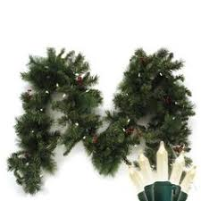 national tree company 9 foot x 10 inch frosted berry garland pre