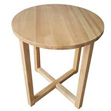 Tall Coffee Table Yabbyou Tall Solid Oak Small Round Oak Coffee Table 45cm Wide