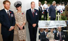 the royal family remembers wwi battle in all the