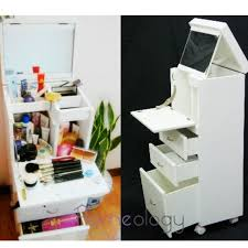 Jewelry Storage Organizer And Makeup Vanity Table