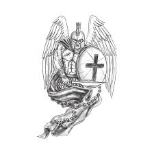 spartan warrior shield rosary stock illustration