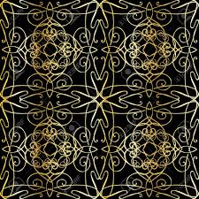 seamless black background with filigree ornamentation in the
