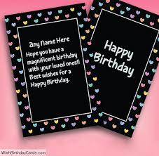 wishing birthday to best friends with name cards
