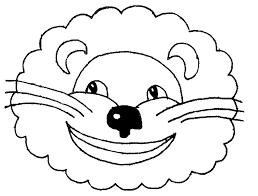 coloring good lion masks print mask 460 1