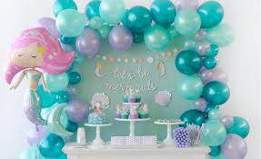 mermaid party supplies mermaid colours helium quality balloons one stop kids party shop