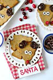 healthy reindeer cookies fork and beans