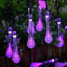 qedertek garden lights solar lights 30 led water drop