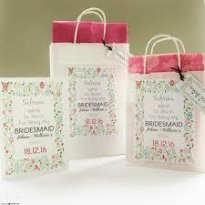 bridesmaid gift bags floral personalised bridesmaid gift bag and card