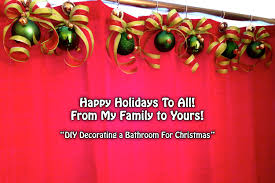 ideas for bathroom decorations christmas bathroom decor lightandwiregallery com