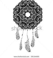 indian dream catcher sketch style vector stock vector 294808574