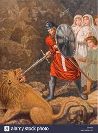 the pilgrims book the pilgrims meeting with a lion from the book the pilgrim s