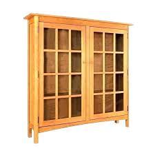 Glass Bookcases With Doors Bookcase With Glass Doors And Drawers White Book Cabinet With