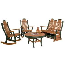 Chair Furniture Amish Outdoor Rocking Amish Outdoor Poly Bentwood Double Glider