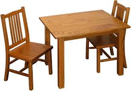 Child Table And Chair Amish Mission Child Table And Chair Set