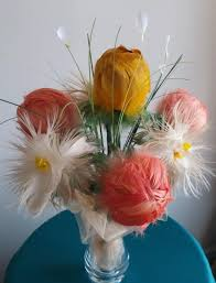 Flower Home Decor by Real Feather Flowers Bouquet