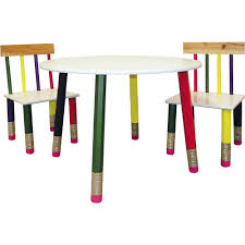 pencil leg table and chairs ore 3 pc kids table set white table