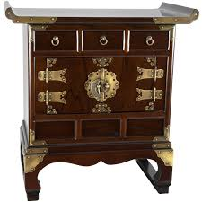 Chest End Table Oriental Furniture Korean 3 Drawer End Table Accent Cabinet