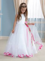 flower girl dresses a line floor length floral embellishments tulle flower girl dress
