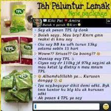Teh Tpl jual teh peluntur lemak asli oleh distributor teh peluntur lemak di