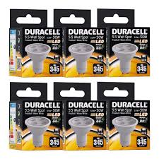duracell gu10 led spot light bulb 5 5w 50w equivalent frosted