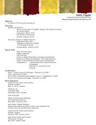 Art Resume Sample by Resume Of Artist Best Free Resume Collection