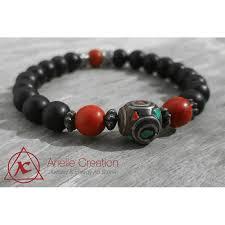 bracelet homme images Bracelet homme onyx noir et rouge arielle creation jpg