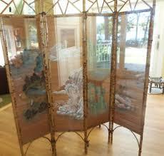 Ebay Room Divider - vintage bamboo room divider screen hand painted asian landscape