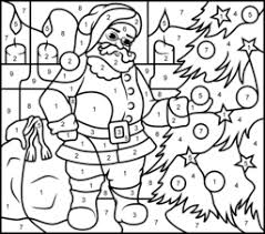 christmas color number free coloring pages art coloring pages