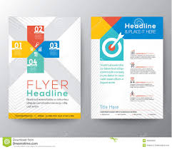 Graphic Design Templates For Flyers | brochure flyer graphic design layout vector template stock vector