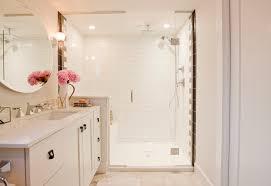 romantic bathroom design with walk in shower traditional bathroom