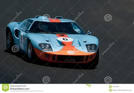 gulf gt40 gt40 ford racing car editorial photography image of racing