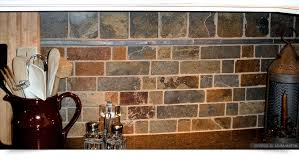 Rusty Brown Slate Mosaic Backsplash Tile For Traditional Kitchen - Gray backsplash tile